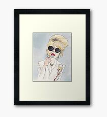 Patsy Stone of Absolutely Fabulous / Ab Fab Framed Print