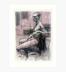 Portrait of Damon Art Print