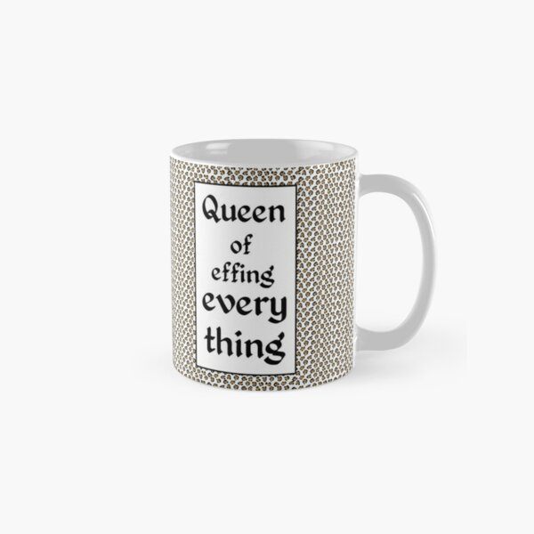Tiger King Inspired - leopard print & Social Isolation Status Statement - Queen of effing everything Classic Mug