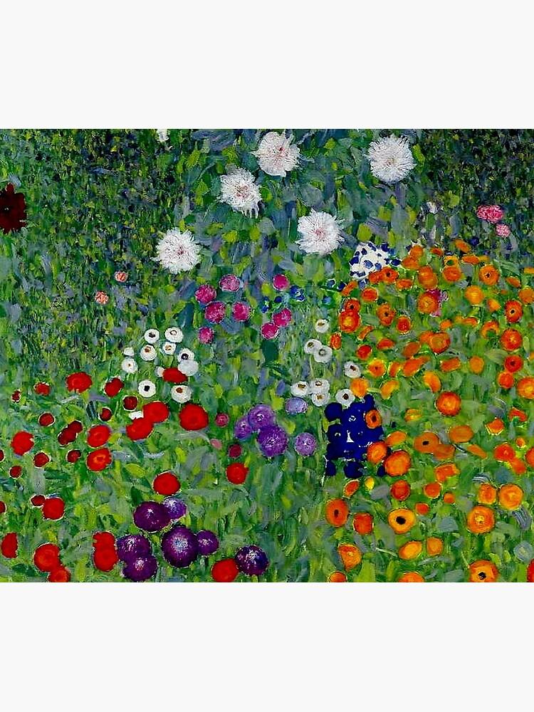 GUSTAV KLIMT : Vintage 1918 Bauerngarten Flower Garden Print by posterbobs