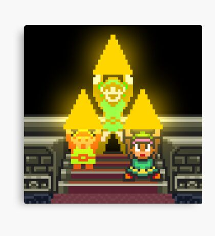 Link Evolution with Triforce Canvas Print