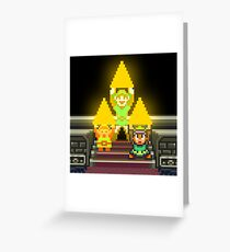 Link Evolution with Triforce Greeting Card