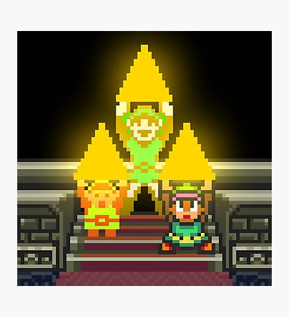 Link Evolution with Triforce Photographic Print
