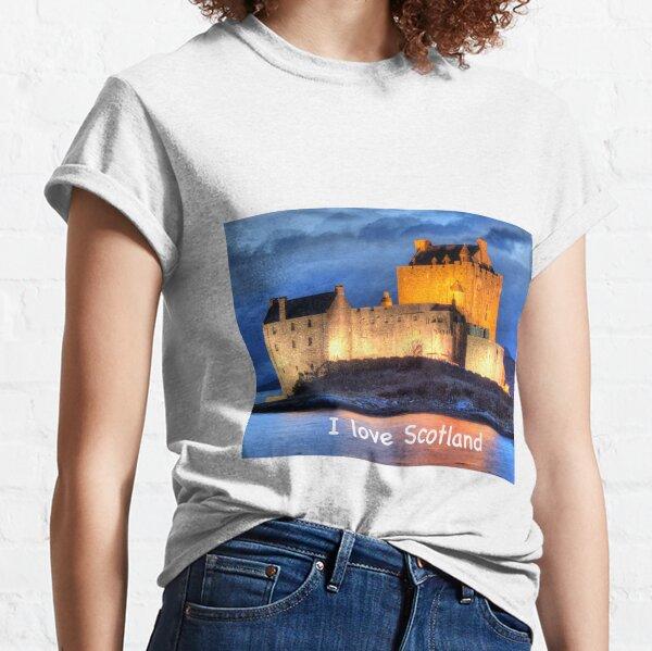 I love Scotland and Eilean Donan Castle , the Highlands , Scotland in winter Classic T-Shirt