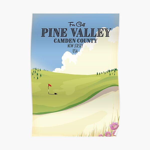 Pine Valley Camden County New Jersey USA Golf  Poster
