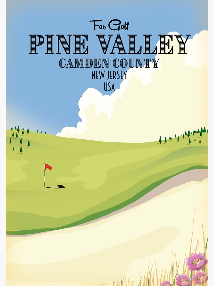 Pine Valley Camden County New Jersey USA Golf  by vectorwebstore