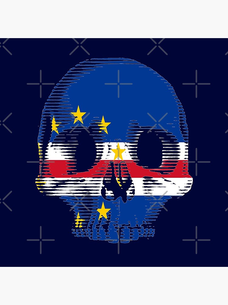 Cape Verde Flag Skull Distressed Vintage Retro by thespottydogg