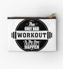 Bad Workout Gym Fitness Quote Studio Pouch