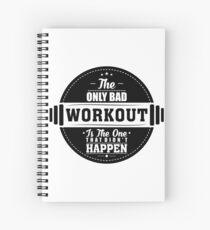 Cuaderno de espiral Bad Workout Gym Cotización de fitness