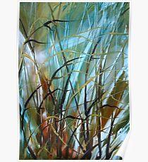 Deep Grass - Encaustic Painting Poster