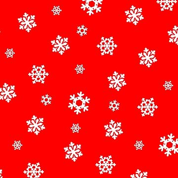 Snowflakes (White on Red) by pauljamesfarr