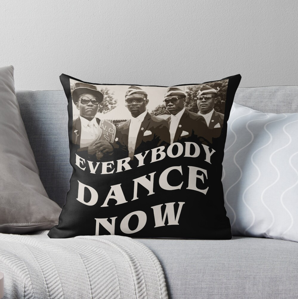 Everybody Dance Now With Coffin Throw Pillow By Marcopolok Redbubble