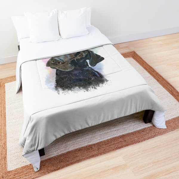 Atlas the Labrador Retriever Splash Watercolor Comforter
