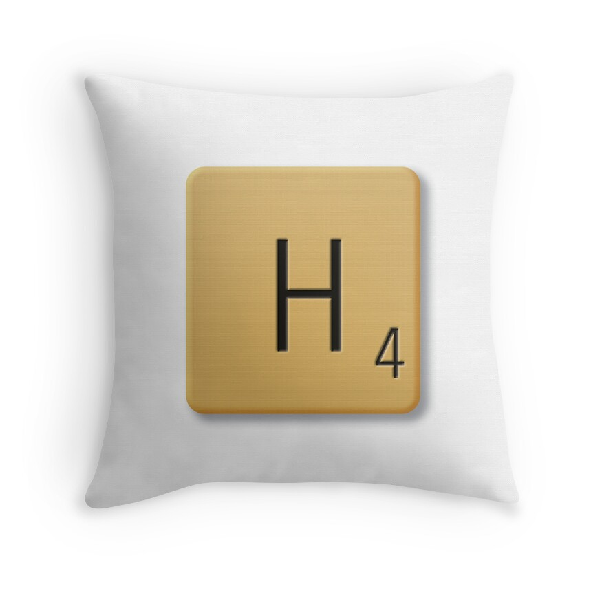 Quot Scrabble Tile H Quot Throw Pillows By Axemangraphics