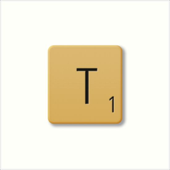 Scrabble Tile - T\