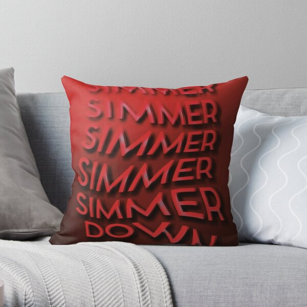 Simmer Down Throw Pillow