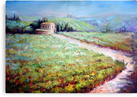 Vineyard in Italy by Ivana Pinaffo