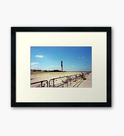 Barnegat Light, Old Barney, Long Beach Island, New Jersey Framed Print