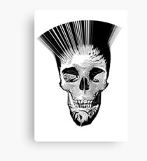 Skull - BasketWeave Leinwanddruck