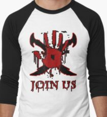 "***AWESOME*** Dark Brotherhood ""JOIN US"" Men's Baseball ¾ T-Shirt"
