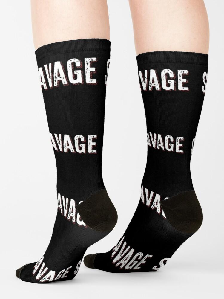 Alternate view of Savage Distressed Hip Hop Print Socks