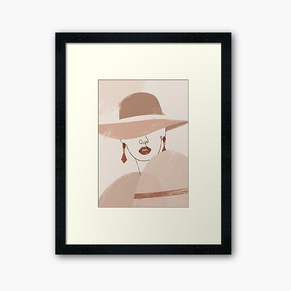 Abstract Woman Portrait Framed Art Print