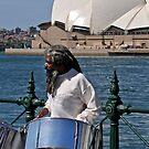 Street entertainer by Celeste Mookherjee
