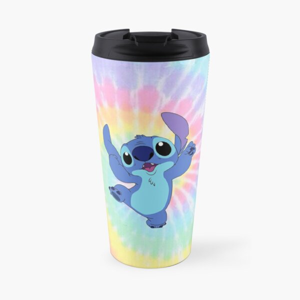 Silly Stitch on colorful background Travel Mug