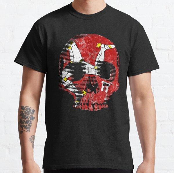 Isle Of Man Manx Flag Skull TT Racing 3 Legs Of Man Triskelion Classic T-Shirt