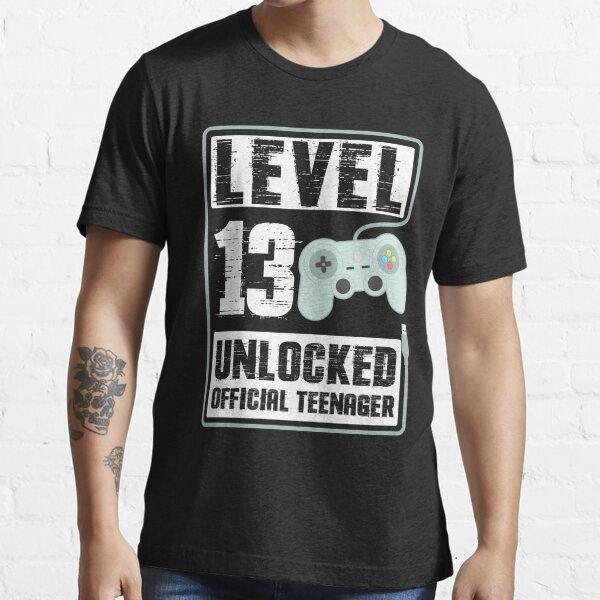 13 ° cumpleaños, regalo de adolescente oficial desbloqueado de nivel 13 Camiseta esencial