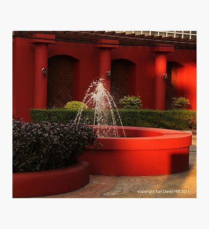 red fountain Photographic Print