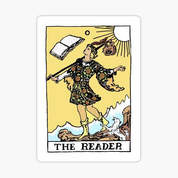 Bookshop Tarot--The Reader Sticker