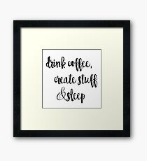 Creative Quote Framed Print