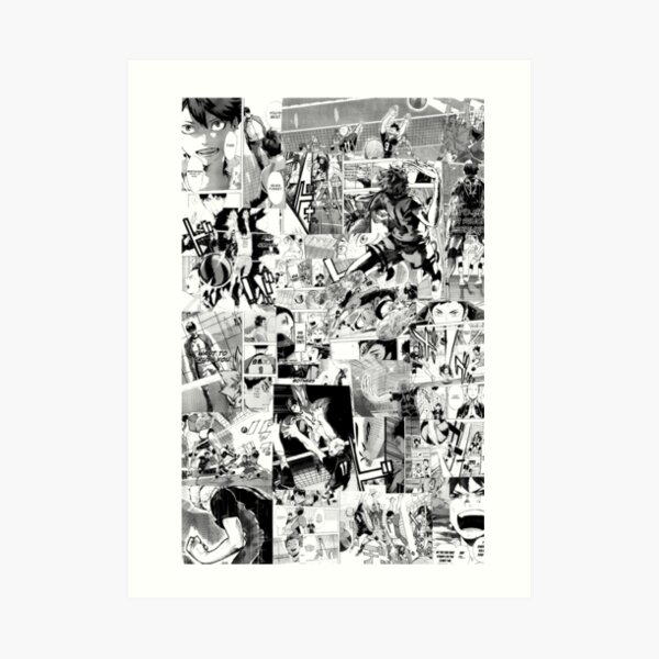Haikyuu! Manga Collage Art Print