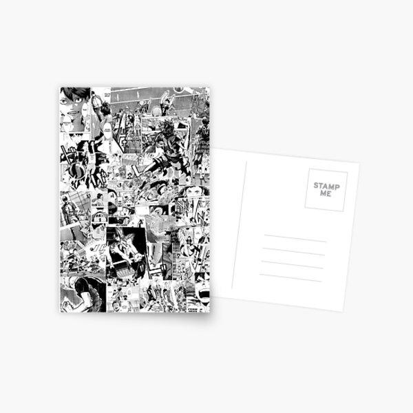Haikyuu! Collage de manga Carte postale