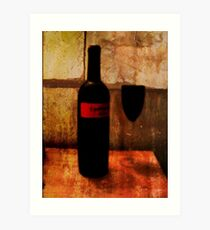 the wine glass Art Print