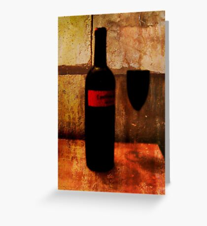 the wine glass Greeting Card