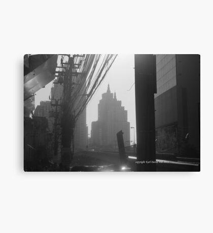 bangkok morning (black and white) Canvas Print