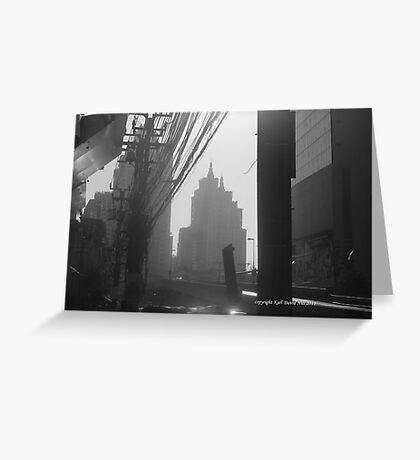 bangkok morning (black and white) Greeting Card