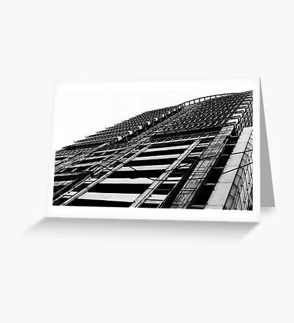 metro (black and white) Greeting Card