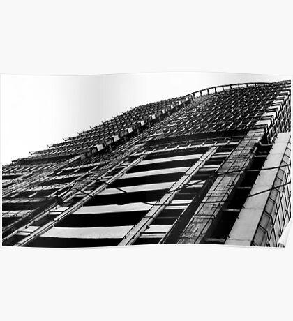metro (black and white) Poster