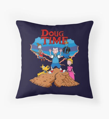 Doug Time. Throw Pillow