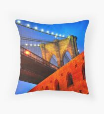 Brooklyn Bridge: NYC Throw Pillow