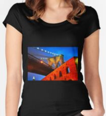 Brooklyn Bridge: NYC Women's Fitted Scoop T-Shirt
