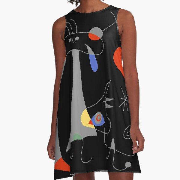 Joan Miro The Sun (El Sol) 1949 Painting Artwork For Prints Posters Tshirts Bags Women Men Kids A-Line Dress