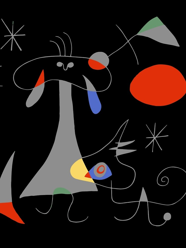 Joan Miro The Sun (El Sol) 1949 Painting Artwork For Prints Posters Tshirts Bags Women Men Kids by clothorama