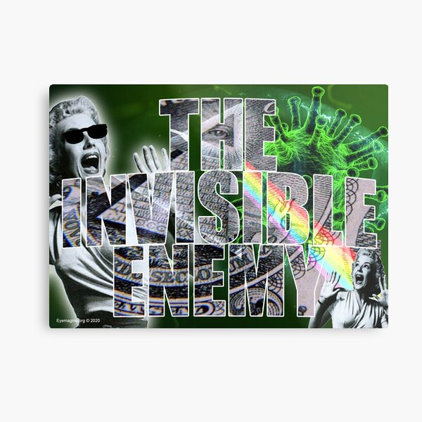 The Invisible Enemy Metal Print