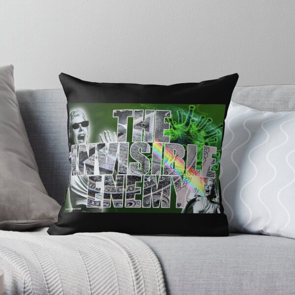 The Invisible Enemy Throw Pillow