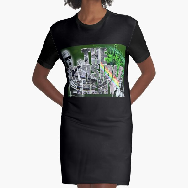 The Invisible Enemy Graphic T-Shirt Dress