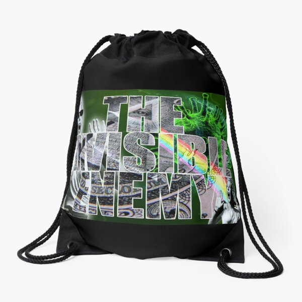 The Invisible Enemy Drawstring Bag